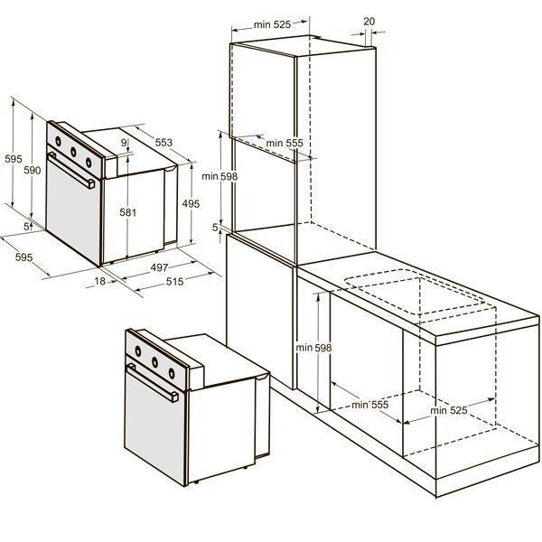 Духовой шкаф Дарина электрич. встраиваемый 1U5 BDE
