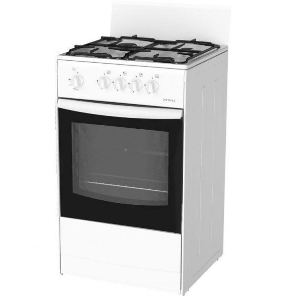 плита Дарина-4х конф.газовая S4 441 101 W напольная (белая) полный газ-контроль